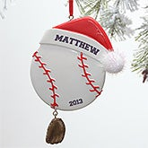 Personalized Baseball Christmas Ornament - 9269