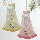 Personalized Evening Gown Dress Christmas Ornaments - 9275