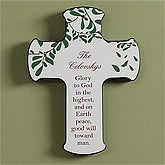 Personalized Wall Cross - Blessings of Christmas - 9288