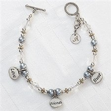 Personalized Charm Bracelets - Love, Friends, Trust - 9293