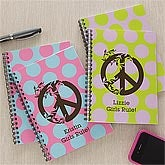 Personalized Notebooks - Peace Symbol - 9304