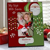 Visit With Santa Personalized Christmas Picture Frame - 9324