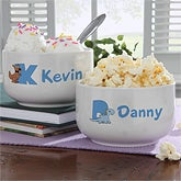 Personalized Bowl for Boys - Alphabet Animals - 9350