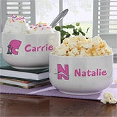 Personalized Bowl for Girls - Alphabet Animals - 9351
