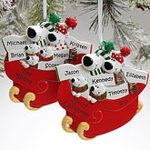 Personalized Christmas Ornaments - Polar Bear Family - 9356