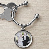 Personalized Wedding Photo Key Ring - 9381D