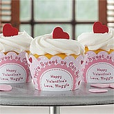 Personalized Valentine's Day Cupcake Wrappers - Be My Sweet - 9382