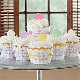Personalized Valentine's Day Cupcake Wrappers - Candy Hearts - 9383