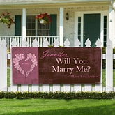 Will You Marry Me? Personalized Banner