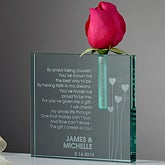Personalized Bud Vase - Friendship Heart - 9387
