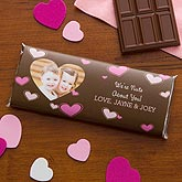 Personalized Candy Bar Wrappers - Heart Photo - Nuts About You - 9389
