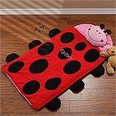 Personalized Kids Sleeping Bag - Ladybug Nap Mat - 9409