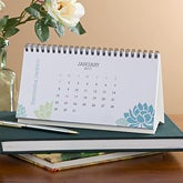 Personalized Desk Calendars - Floral Expressions - 9414
