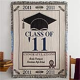 Class of 2011 Embroidered Graduation Afghan