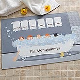 Personalized Bath Mats - Bathtub Family Characters - 9450