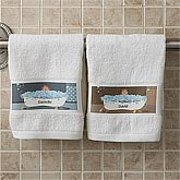 Personalized Bathroom Hand Towels - Bathtub Characters - 9491
