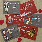 Personalized Valentine's Day Cards for Boys - Pirates - 9515