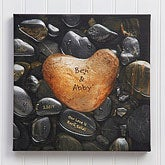 Heart Rock Personalized Canvas