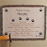 Advice From A Dog© Embroidered Afghan