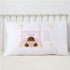 Personalized Girls Pillowcase - Bedtime Prayer - 9544