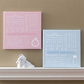 Personalized Baby Birth Canvas Art - 9545