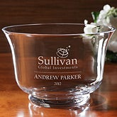 Personalized Corporate Engraved Logo Crystal Bowl - 9548