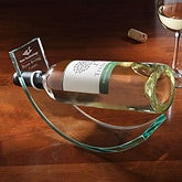 Personalized Corporate Engraved Logo Crystal Wine Cradle - 9549