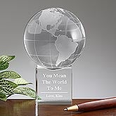 You Mean The World To Me Personalized Globe