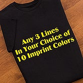 Personalized Black T-Shirt - Choose Custom Printed Text