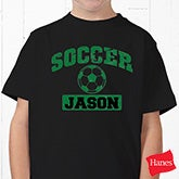 Custom Personalized Sports Black T Shirts - 9580