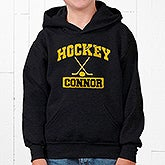 Custom Personalized Sports Hooded Black Sweatshirt - 9582