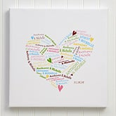 Personalized Canvas Art - Heart of Love - 9584