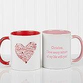 Personalized Heart Romantic Coffee Mug - 9585