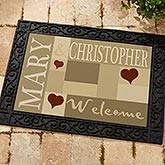 Personalized Doormats - Welcoming Hearts - 9595