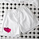 Personalized Valentine's Day Boxer Shorts - Shared Heart - 9623