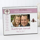 Personalized Communion Picture Frame for Girls - 9646