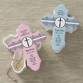 Personalized Cross Trinket Box - God Bless - 9647