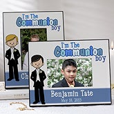 Personalized First Communion Picture Frames - Communion Boy - 9649