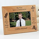 Personalized First Communion Picture Frames - God Bless - 9664