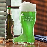 Personalized St Patrick's Day Beer Boot - Drink Til Yer Green - 9666