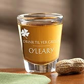 Personalized St Patrick's Day Shot Glass - Drink Til Your Green - 9670