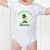 Baby's First St Patrick's Day Personalized Romper