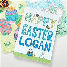 Personalized Easter Coloring Book & Crayon Set - 9678