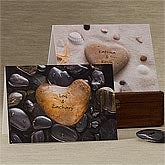 Personalized Romatic Greeting Cards - Heart Rock - 9682
