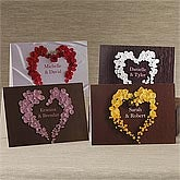 Personalized Greeting Cards - Heart of Roses - 9683