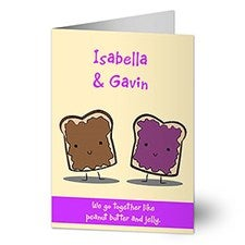 Personalized Greeting Cards - We Go Together - 9686