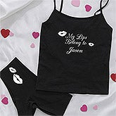 Personalized Black Camisole & Underwear Set - My Girl - 9690