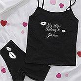 Personalized Black Camisole & Underwear Set - My Girl - 9690
