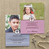 Photo First Communion Thank You Cards - Special Day - 9727