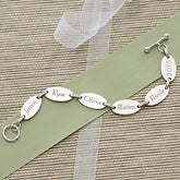 Custom Engraved Sterling Silver Bracelet for Mom and Grandma